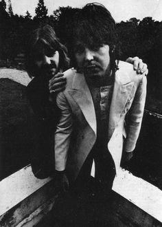 August 22, 1969: The Beatles' Final Photo Shoot//Paul & Ringo.  Ironic that these are the 2 that are still alive!