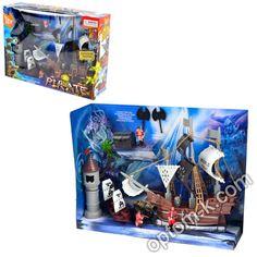 Купити Набір піратський: корабель - 32 см, фігурки та інші предмети, в коробці 45х33х14 см оптом. Вигідна ціна в Україні! Electronics, Consumer Electronics