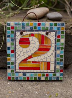 Mosaic house number (made to order) 17cm x 17 cm £45.00