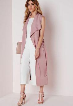 Belle idée de manteau sans manches rose