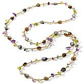 Necklaces with colored beads are always a great investment, because they go with everything! #Fashion
