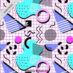 motif moderne de formes géométriques colorées