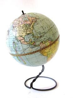 Vintage World Globe PreWW2 1930 Student Globe by Weber Costello