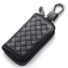 New Car Keys Bag Wallets Weaving Grain Remote Control Key Bag Man Woman Leather Purse Portable Key Wallet