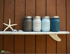 Coastal Weathered Surfboard Shelf