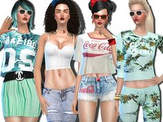The Sims Resource: Malibu Summer Mint and Company by Pinkzombiecupcake • Sims 4 Downloads