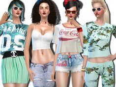 The Sims Resource: Malibu Summer Mint and Company by Pinkzombiecupcake • Sims 4 Downloads