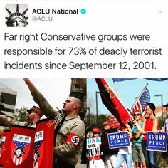 "But we demonize and single out ""Islamic Militants"" because Nazis, White Supremacists, ""alt-right' and the KKK are the trump (and core Republican) base."