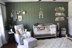 White Nursery, Nursery Neutral, Nursery Room, Accent Wall Nursery, Boho Nursery, Bedroom, Forest Nursery, Woodland Nursery, Baby Boy Rooms