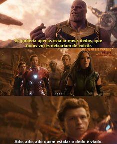 Esse seria o brasileiro na guerra! Marvel Jokes, Avengers Memes, Marvel Dc Comics, Dc Memes, Memes Humor, Funny Memes, Funny Shit, Tom Holland, Mundo Marvel