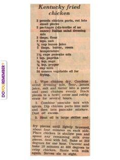KFC's secret recipe