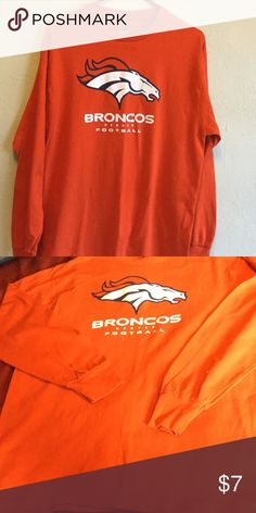 Denver Broncos Long Sleeve Shirt This is a size large Denver Broncos long sleeve Tshirt. For Guys or Girls.. Majestic Tops Tees - Long Sleeve