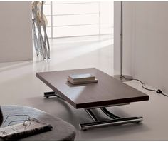 Höhenverstellbarer Designer Couchtisch Ozzio Mondial/ adjustable Table