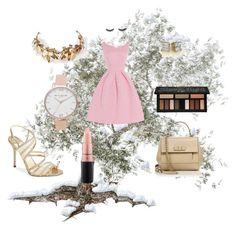 """Sleeping Beauty"" by idkjustmeow on Polyvore featuring moda, Jimmy Choo, Olivia Burton, Salvatore Ferragamo, MAC Cosmetics, Kat Von D y Laurel Wreath Collection"