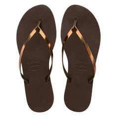 7af810642 Havaianas You Metallic slipper - bruin. Metallic SlippersMetallic SandalsStrappy  ...