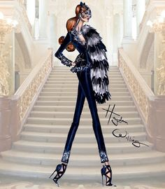 Hayden Williams Fashion Illustrations: Hayden Williams Haute Couture FW15: Look 4