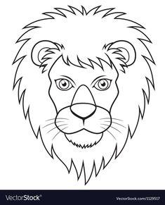 lion  szukaj w google  animal outline outline drawings