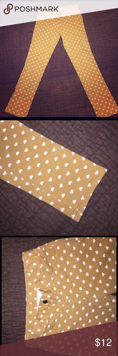 6d1e581601fd Hanna Anderson Pants w Hearts Size 130 EUC. Hanna Anderson cotton pants!  Like new