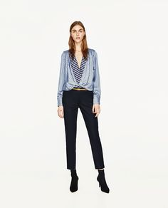 TROUSERS WITH BELT-View all-TROUSERS-WOMAN | ZARA United States