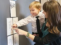 """Posting a Nursery Schedule """"See and Do"""" Posting the nursery schedule can give children a feeling of security. Symbols can be used to show w..."""