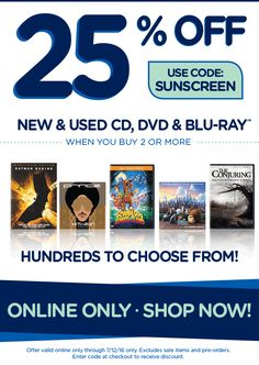 25% Off New & Used CD, DVD & Blu-Ray at fye - 25% Off