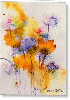 Field Flowers Greeting Card by Anne Duke