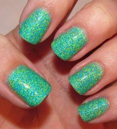 love the colour Ninja Nail Polish Lacquer Floam Holographic metallic effect nail polish @opulentnails #ninjanails #floam