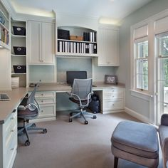 Built In Dual Office Design Ideas, Pictures, Remodel, and Decor