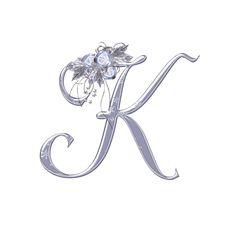 "Photo from album ""Winter Magic on Yandex. Letter K Tattoo, Letter Art, Alphabet Letters, Flowery Wallpaper, Name Wallpaper, Queen Wallpaper Crown, Islamic Wallpaper Hd, Butterfly Pictures, Alphabet Design"