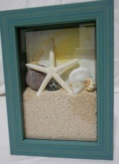 Bath room diy beach shadow box 25 ideas for 2019 Beach Shadow Boxes, Seashell Shadow Boxes, Diy Shadow Box, Shadow Box Frames, Seashell Crafts, Beach Crafts, Diy Crafts, Plage Art Mural, Cadre Diy