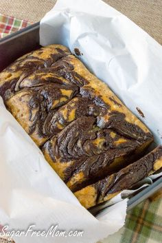Low Carb Gluten Free Chocolate Peanut Butter Loaf