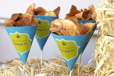 snack cones with chips