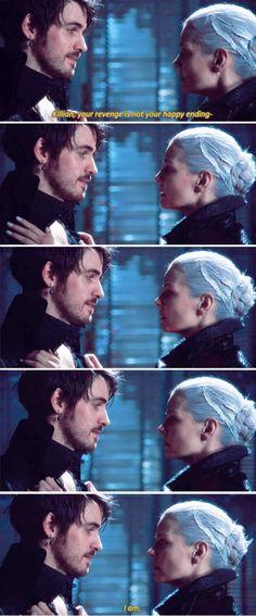"""Killian, your revenge is not your happy ending"" - Dark Swan and Dark Hook #OnceUponATime"