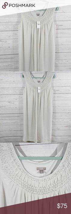 J. Jill silk dress J. Jill 100% silk dress. Marble color. Straight, sleeveless and elegant in its simplicity. Softly gathered at front and back to provide a little extra breathing room. Perfect summer event dress. NWT J. Jill Dresses Midi