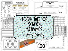 This is a packet of fun activities to use on the 100th day of school.
