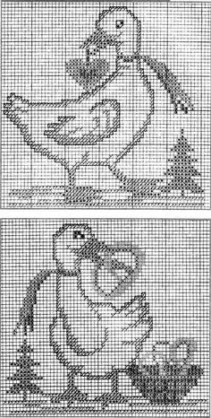 Kreuzstich Cross Stitch Patterns, Crochet Patterns, Christmas Cross, Filet Crochet, Needle And Thread, Cross Stitching, Needlecrafts, Crossstitch, Laying Hens