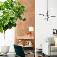 Fiddle leaf fig tree care guide by tenhundfeld fiddle fig tree, indoor plan My Living Room, Home And Living, Living Spaces, Ficus Lyrata, Nature Verte, Plantas Indoor, Tree Interior, Interior Plants, Fiddle Leaf Fig Tree