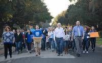 Students walk to support Victoria Muslims (w/video) - Victoria Advocate - Victoria, TX