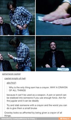 I just noticed that guys...XD #a Crayon for Crowley