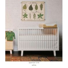 Modern, eco-friendly crib and dresser from the Oeuf Sparrow collection