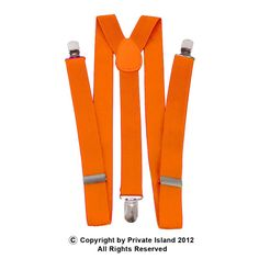 Private Island Party  - Orange Clip On Elastic Suspenders 1282, $4.99 (http://privateislandparty.com/products/orange-clip-on-elastic-suspenders-1282)  Okay, maybe you think I'm crazy... but how about getting some of these for those kids who just WON'T pull their pants up? I'm a big fan of using humor to make a point, and I think these would work really well. XD