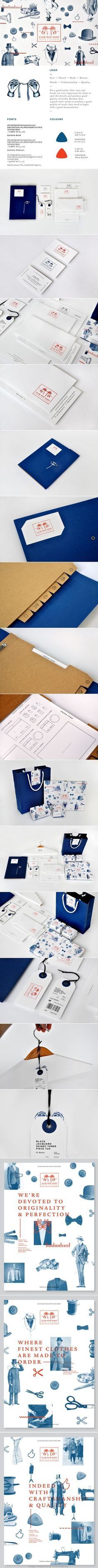 Club Man Shop on Behance. Red, white and blue #identity #packaging #branding