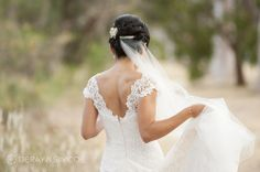 Lace wedding dress Location ~ Kings Park, Perth Photography by DeRay & Simcoe