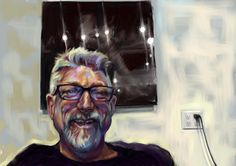 Rex Bruce (Skype series) iPad painting