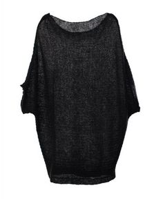 All Black Sweater with Batwing Sleeves