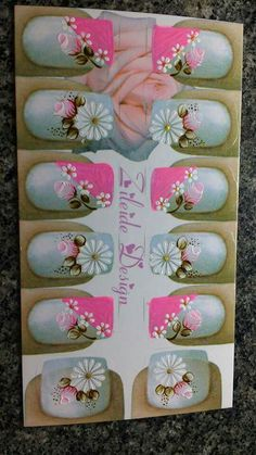 vai para o zawpp Pedicure, Nail Designs, Polish, Nail Art, Nails, How To Make, White Nail Beds, Chic Nails, Pretty Nails