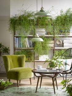 The Big Velvet Home Trend | There's nothing like a statement chair to inject some colour and texture into a room and this Betty armchair from Sofa.com does both in this greenery inspired setting. #hometrend #greenery #statementchair #velvet #velvetchair #homedecor #plantlover #trends #interiorinspo #homeinspo #texture #colourinspo #interiordesign #interiors