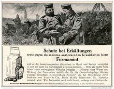 Original-Werbung/ Anzeige 1915 - FORMAMINT GEGEN ERKÄLTUNG / MOTIV SOLDATEN - ca 180 X 130 mm