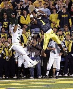 Braylon Edwards Beats MSU in - one of the best receivers in college football history. Msu Football, College Football Helmets, College Football Players, Michigan Wolverines Football, Ncaa College, American Football, Michigan Athletics, University Of Michigan, Braylon Edwards