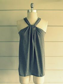 Can't wait to make this No Sew, Tee-Shirt Halter w/ a LSU shirt!